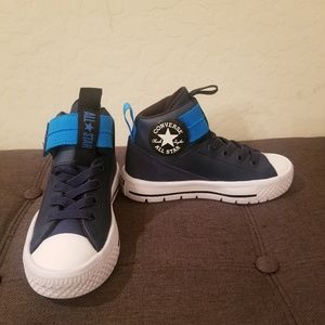 Converse BOYS Hi-Top Blue Sneakers